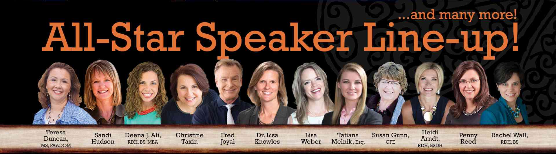 Banner Photo for AADOM's 2017 Speaker LIneup