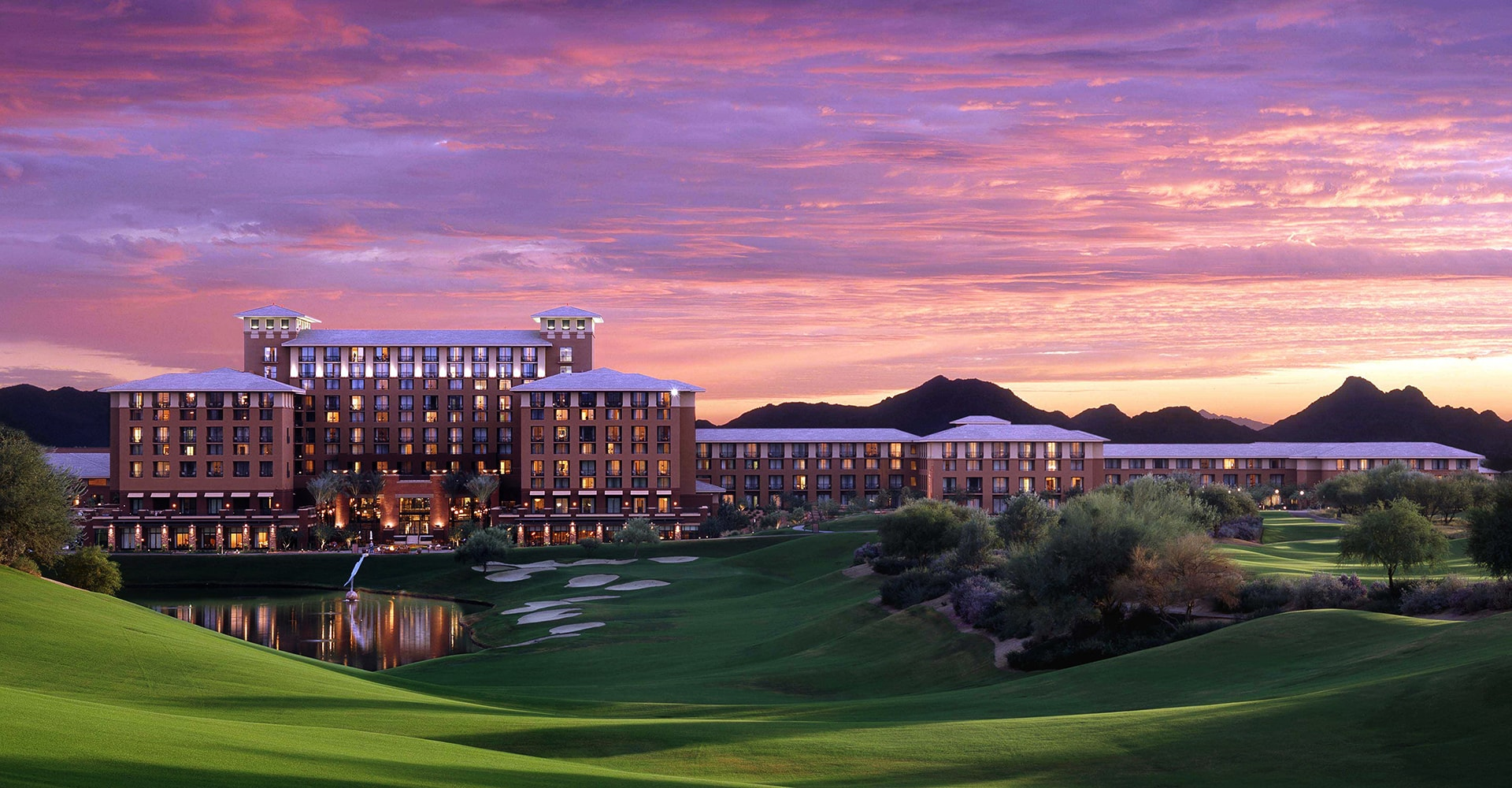 Kierland Westin Resort at Dusk In Scottsdale Arizona