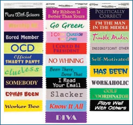 Set of 5 Badge Ribbons